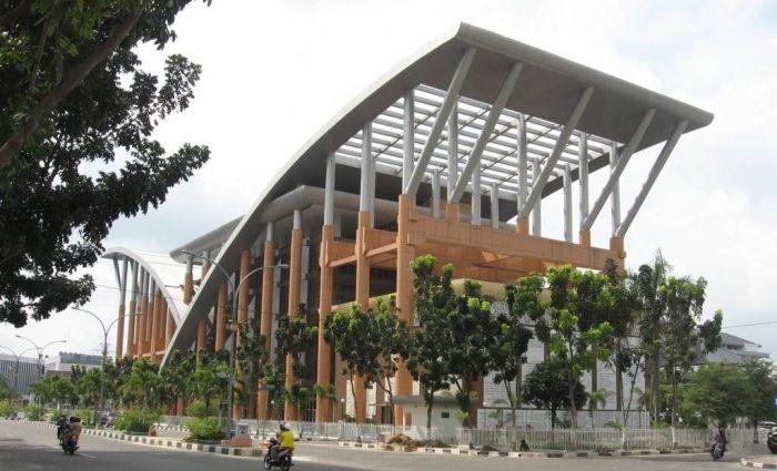 Perpustakaan Soeman H.S, Termegah dan Unik di Indonesia